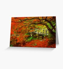 Tranquil Maple Greeting Card