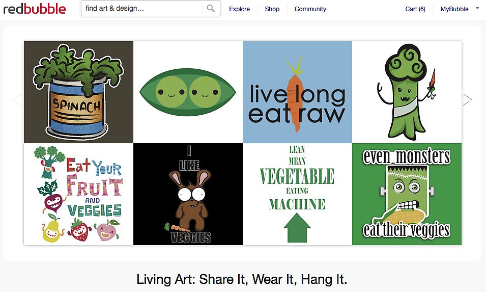 Eat Your Veggies - 28 September 2011 by The RedBubble Homepage
