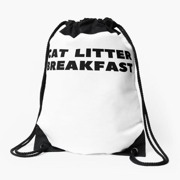 Cat Litter Breakfast Drawstring Bag