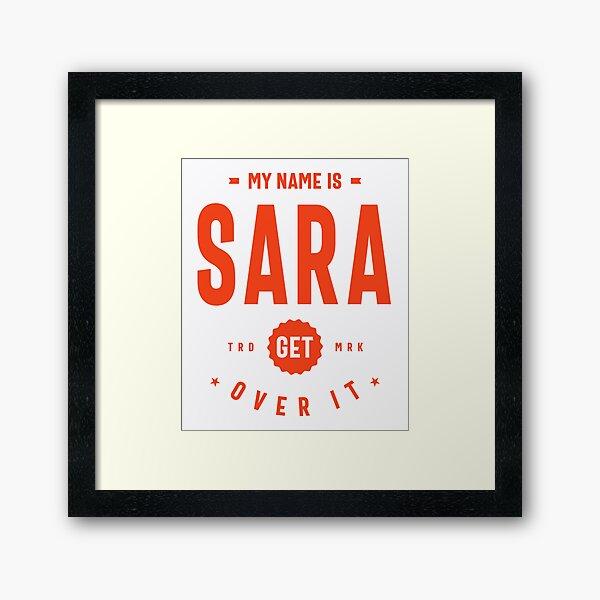 Sara Nombre Personalizado Regalo de Cumpleaños Lámina enmarcada