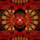 Bipolar Shapes-Mural 4 Red Lotus by plunder