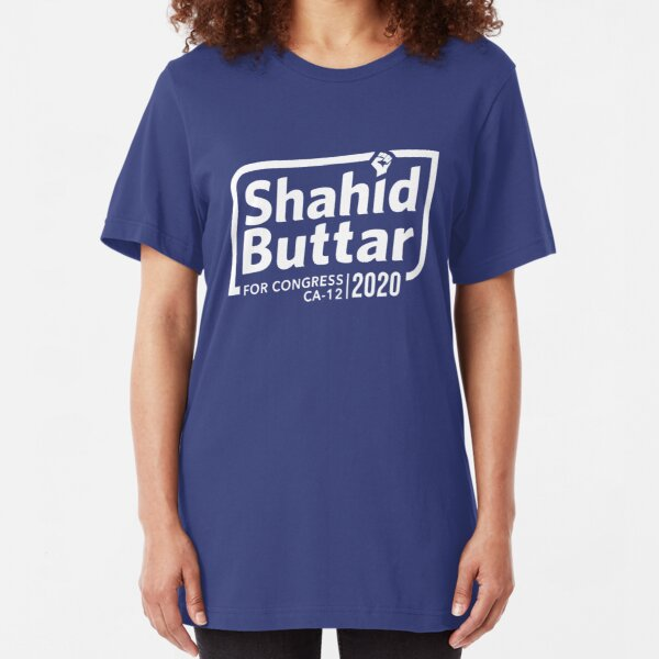 Shahid Buttar for congress 2020 Slim Fit T-Shirt