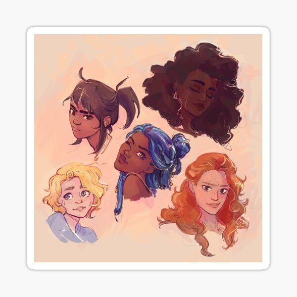 Lunar Girls Sticker