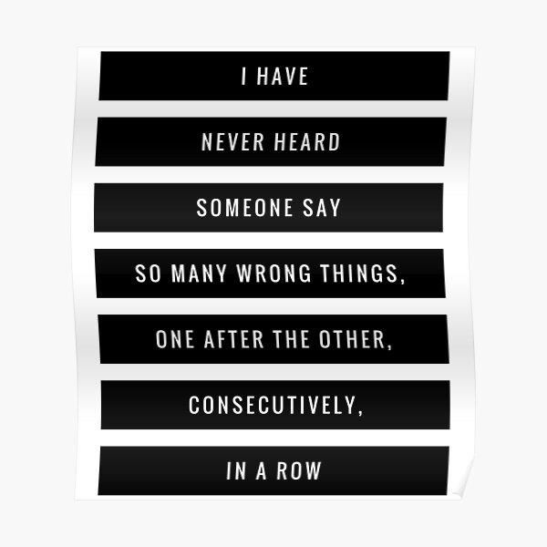 So Many Wrong Things Poster