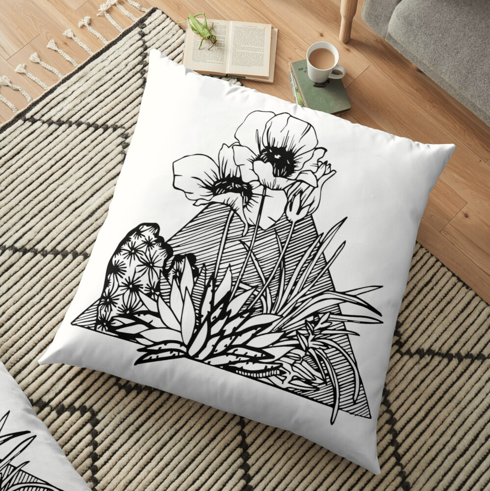 Palm Springs Inspired Botanicals Floor Pillow