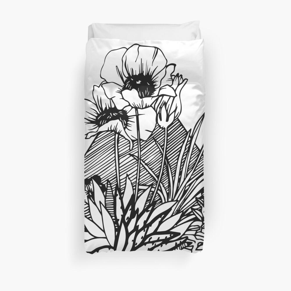 Palm Springs Inspired Botanicals Duvet Cover