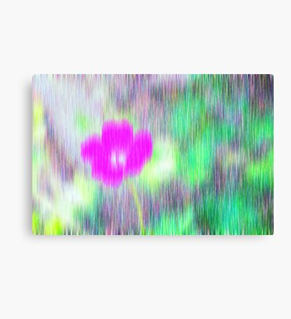 Flower in the rain Canvas Print