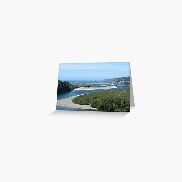 Gualala River and Beach Greeting Card