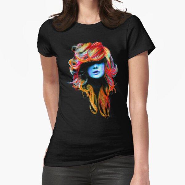 von einer meiner beliebtesten Zeichnungen!  Originalzeichnung: http://vive-le-rock.deviantart.com/gallery/37051#/dr9unx (Buntstifte auf normalem A4-Papier)  Genießen! :) :)  (Die Farben werden im Druck wahrscheinlich viel heller erscheinen Tailliertes T-Shirt