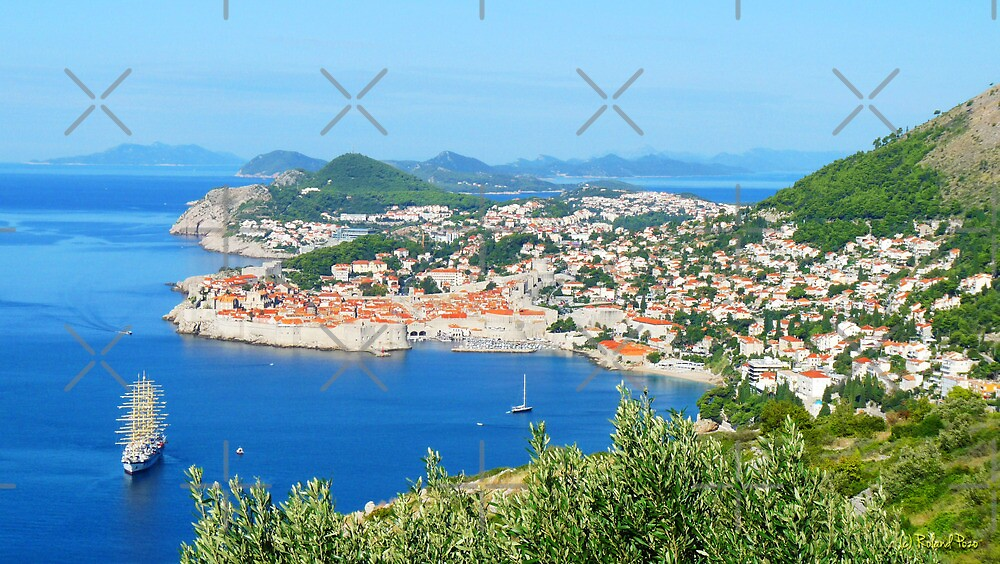 Tall Ship at Dubrovnik by photorolandi