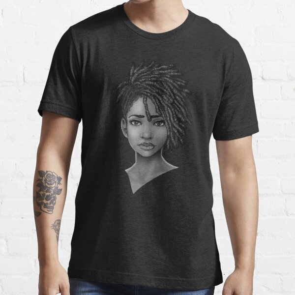 Loc Style | Black Woman Portrait Art Essential T-Shirt