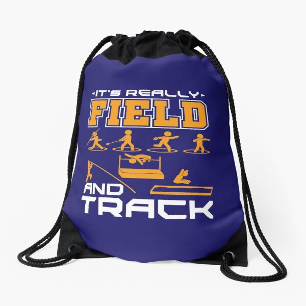 Track And Field It's Really Field And Track Drawstring Bag