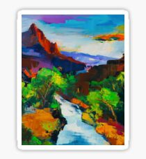 ZION - The Watchman and the Virgin River Sticker
