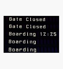 Airport information board. Photographic Print