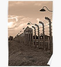 Auschwitz Birkenau concentration camp. Poster