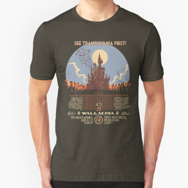See Castlevania First! Slim Fit T-Shirt