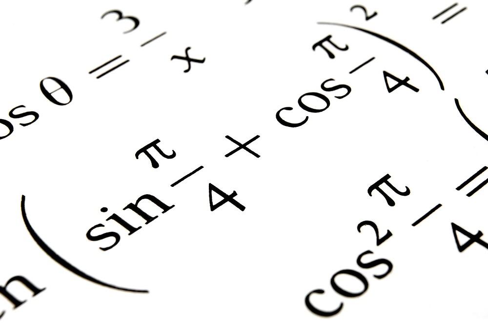 Algebra formulas close up. by FER737NG