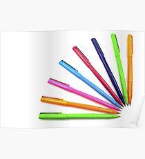 Multicolor pens. Poster