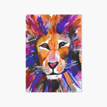 Mighty Majestic Lion Art Board Print