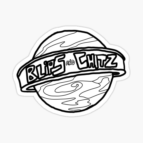Blips and Chitz | Rick and Morty character Sticker