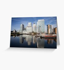 Canary Wharf Skyline Greeting Card