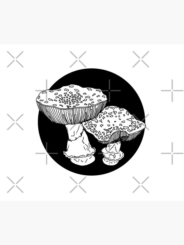 amanita mushrooms illustration by craftordiy