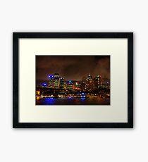 Sydney City CBD Australia HDR Framed Print