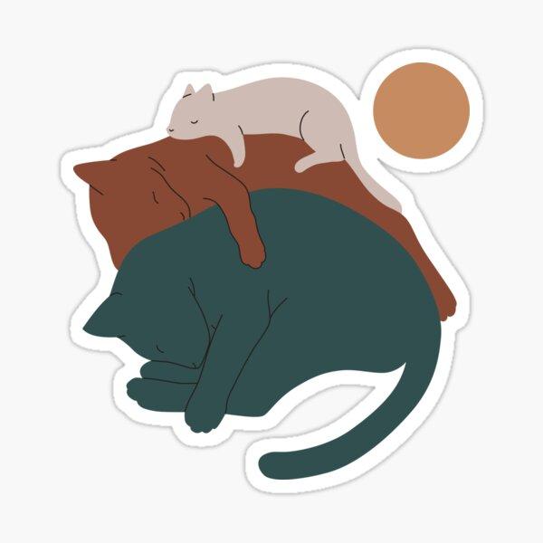 Cat Landscape 17 Sticker