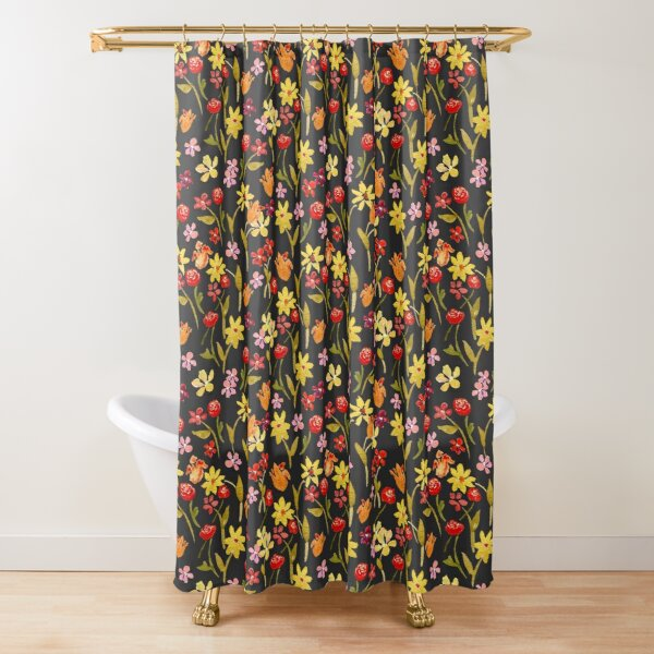 Spring Meadow in Evening by Tea with Xanthe Shower Curtain