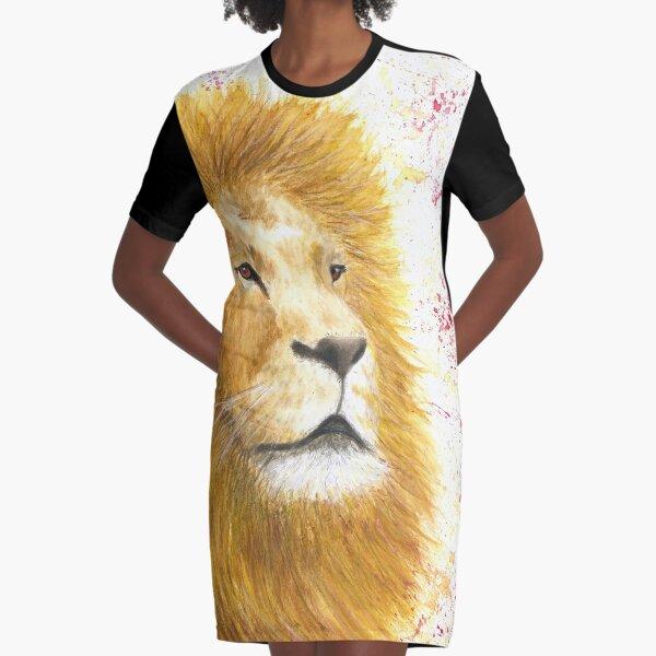 Lion Graphic T-Shirt Dress