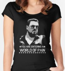 World of Pain Funny Movie Funny Cotton S-XXL Adult T Shirt Women's Fitted Scoop T-Shirt