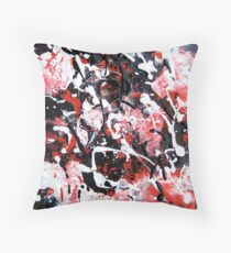 Abstract Splatter Painting Throw Pillow