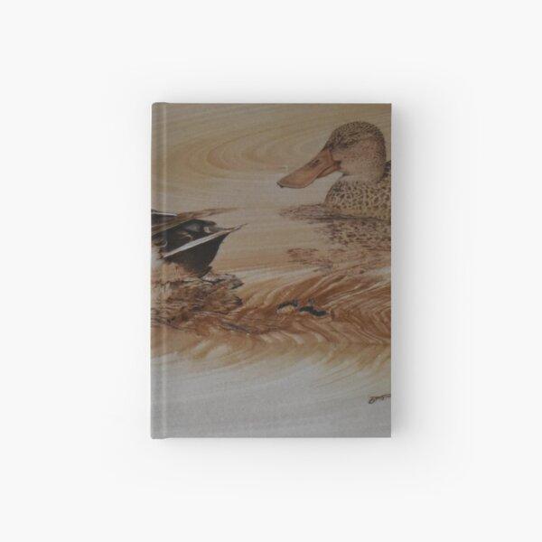 Northern Shoveler Ducks pyrography and airbrush art Hardcover Journal