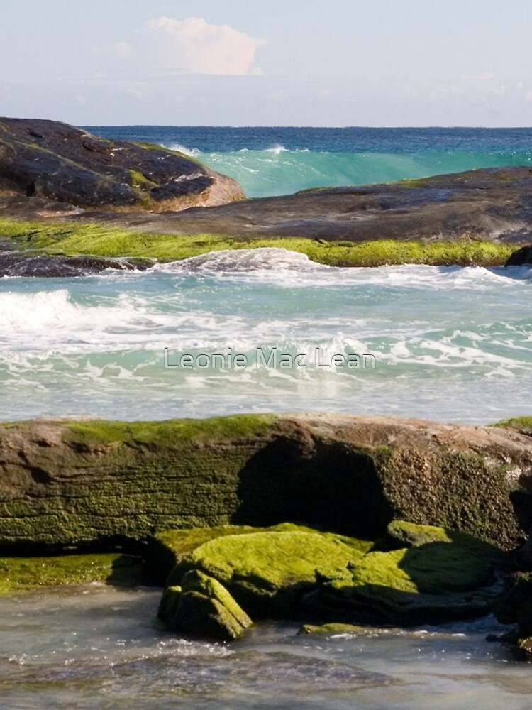 Redgate Beach Rocks with seaweed 2 by yallmia