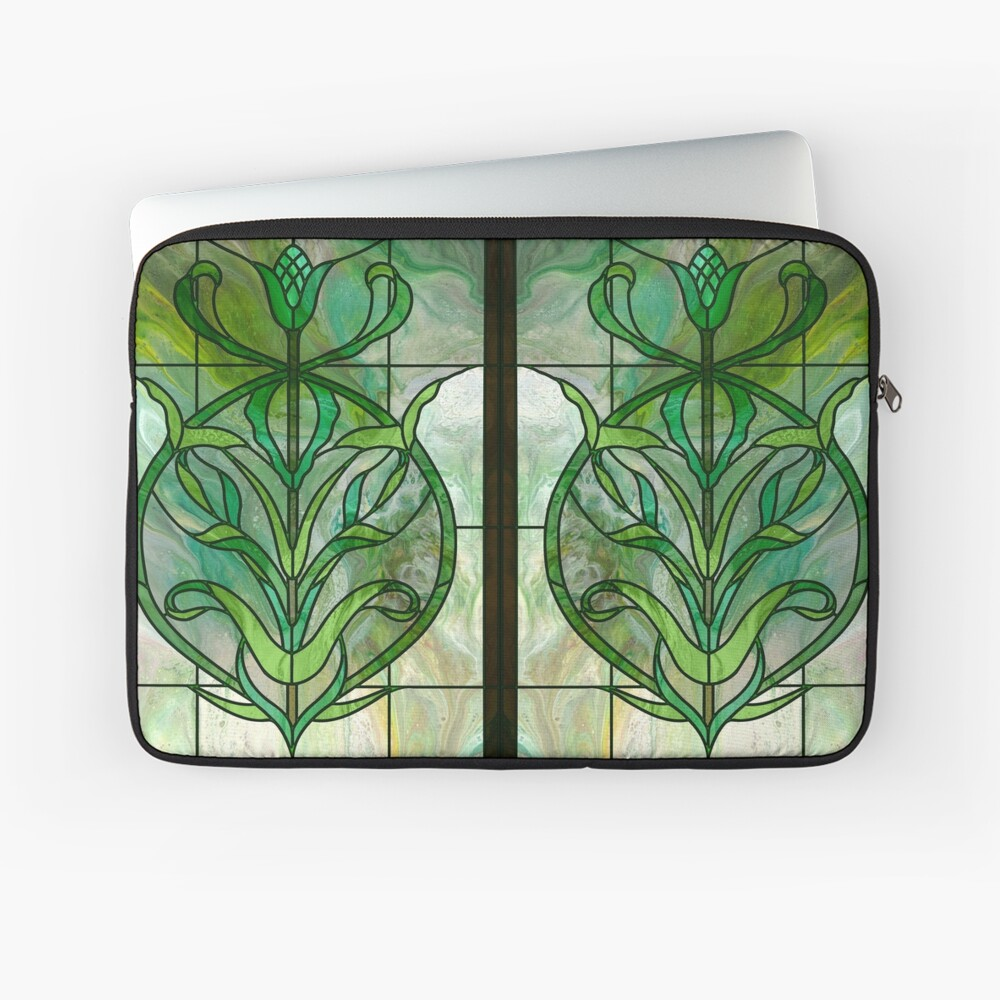 Glass Leaves II: fluid digital art Laptop Sleeve