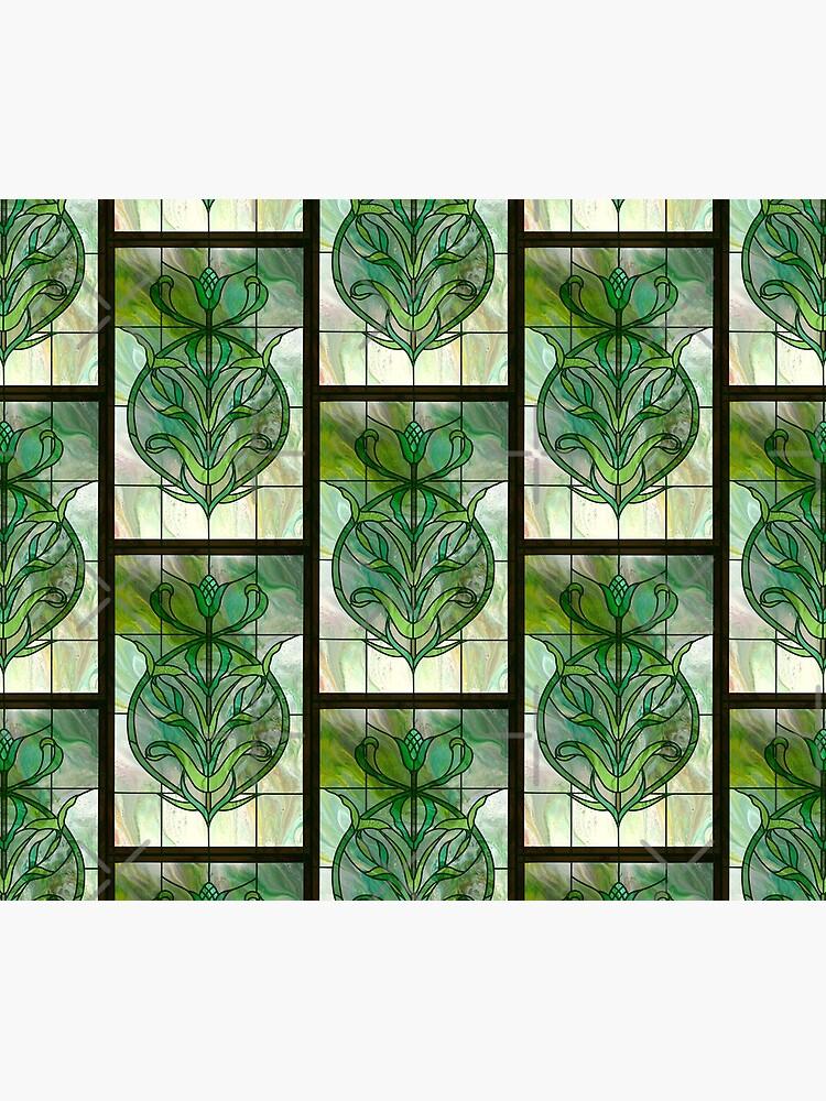 Glass Leaves II: fluid digital art by kerravonsen