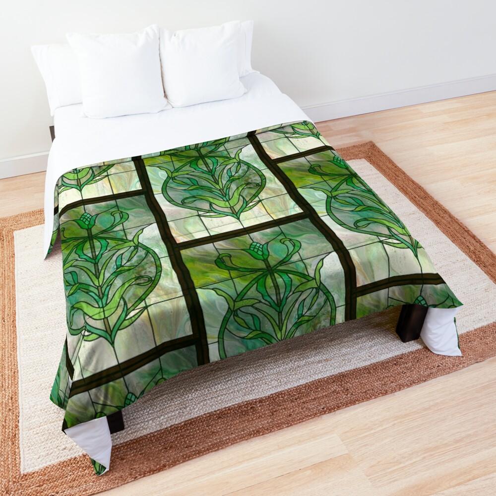 Glass Leaves II: fluid digital art Comforter