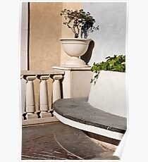 Stone Bench Poster