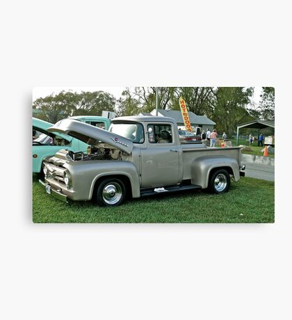 Classic 1956 Ford F100 - Cruise Night - Oakland Beach - RI Canvas Print