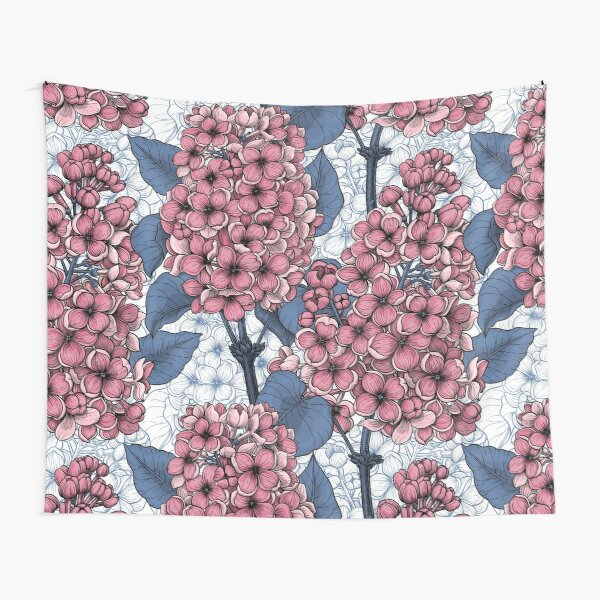 Lilac in pink and blue Tapestry