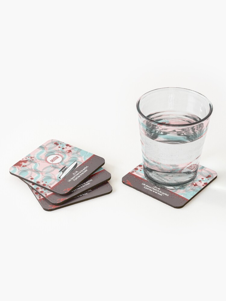 Alternate view of Dexter quote Coasters (Set of 4)