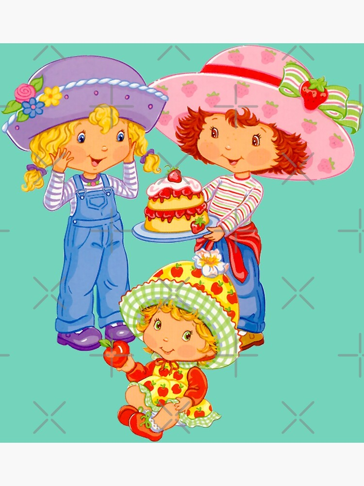 Strawberry Shortcake And Friends Greeting Card By Eficamus