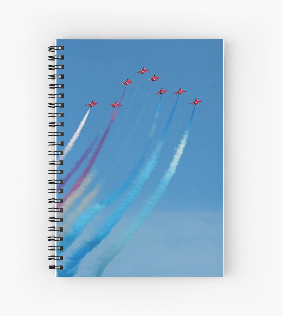 The Red Arrows arrow formation by Tony Steel