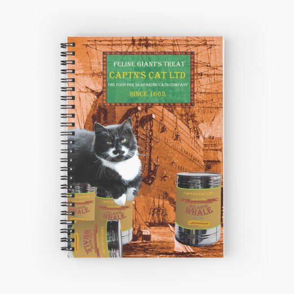 Captn's Cat - Feline Giants Treat Spiral Notebook
