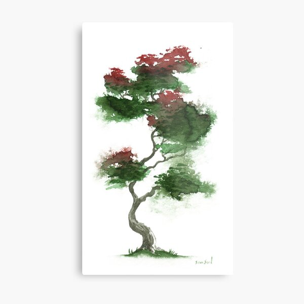 Little Zen Tree 378 Metal Print