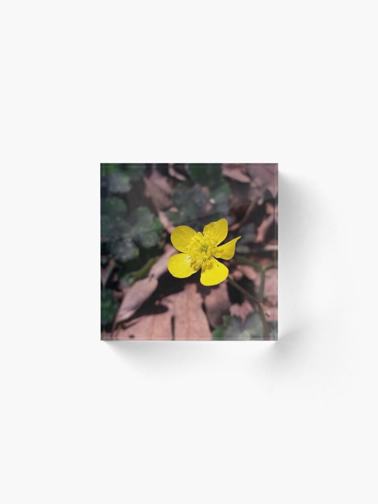 Alternate view of Poyrazlar Yellow Flower Acrylic Block