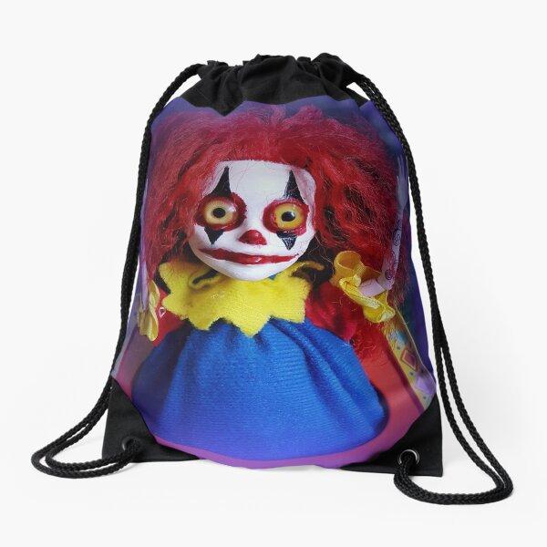 Jack In The Box Clown Horror Doll ~ Lady Scream Drawstring Bag
