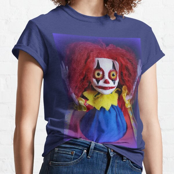 Jack In The Box Clown Horror Doll ~ Lady Scream Classic T-Shirt