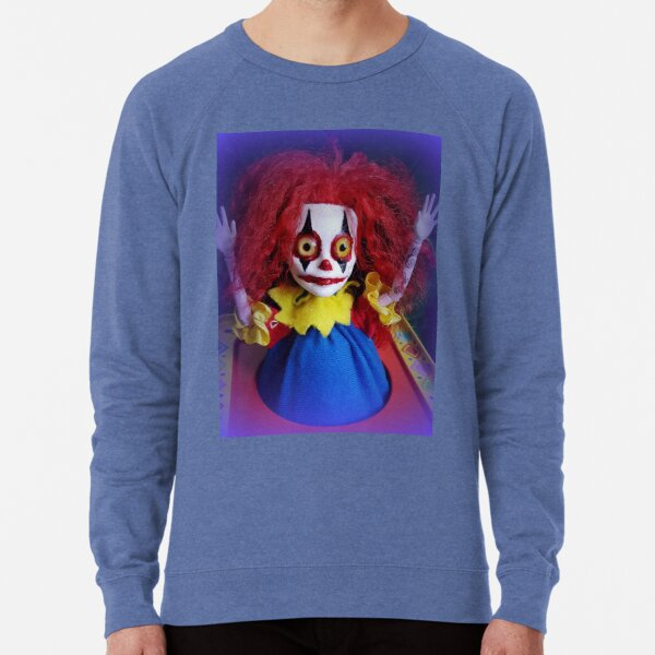 Jack In The Box Clown Horror Doll ~ Lady Scream Lightweight Sweatshirt