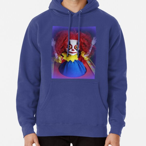 Jack In The Box Clown Horror Doll ~ Lady Scream Pullover Hoodie